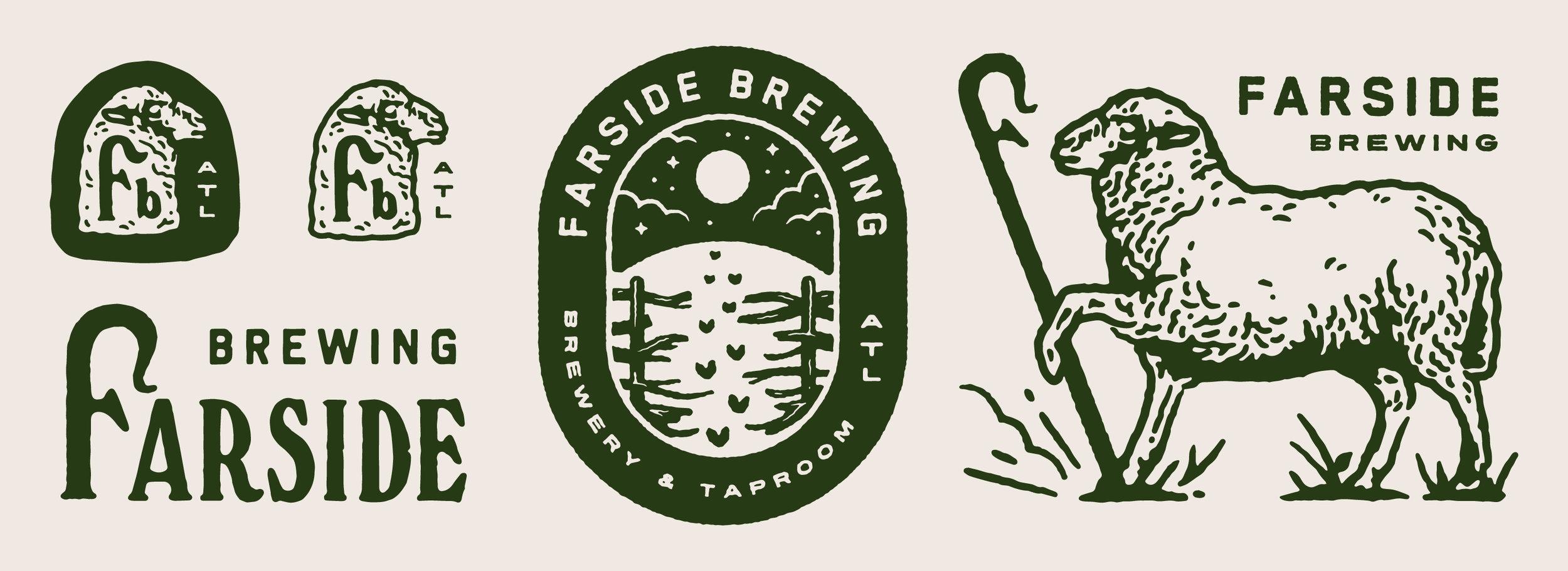 Farside Brewing Branding