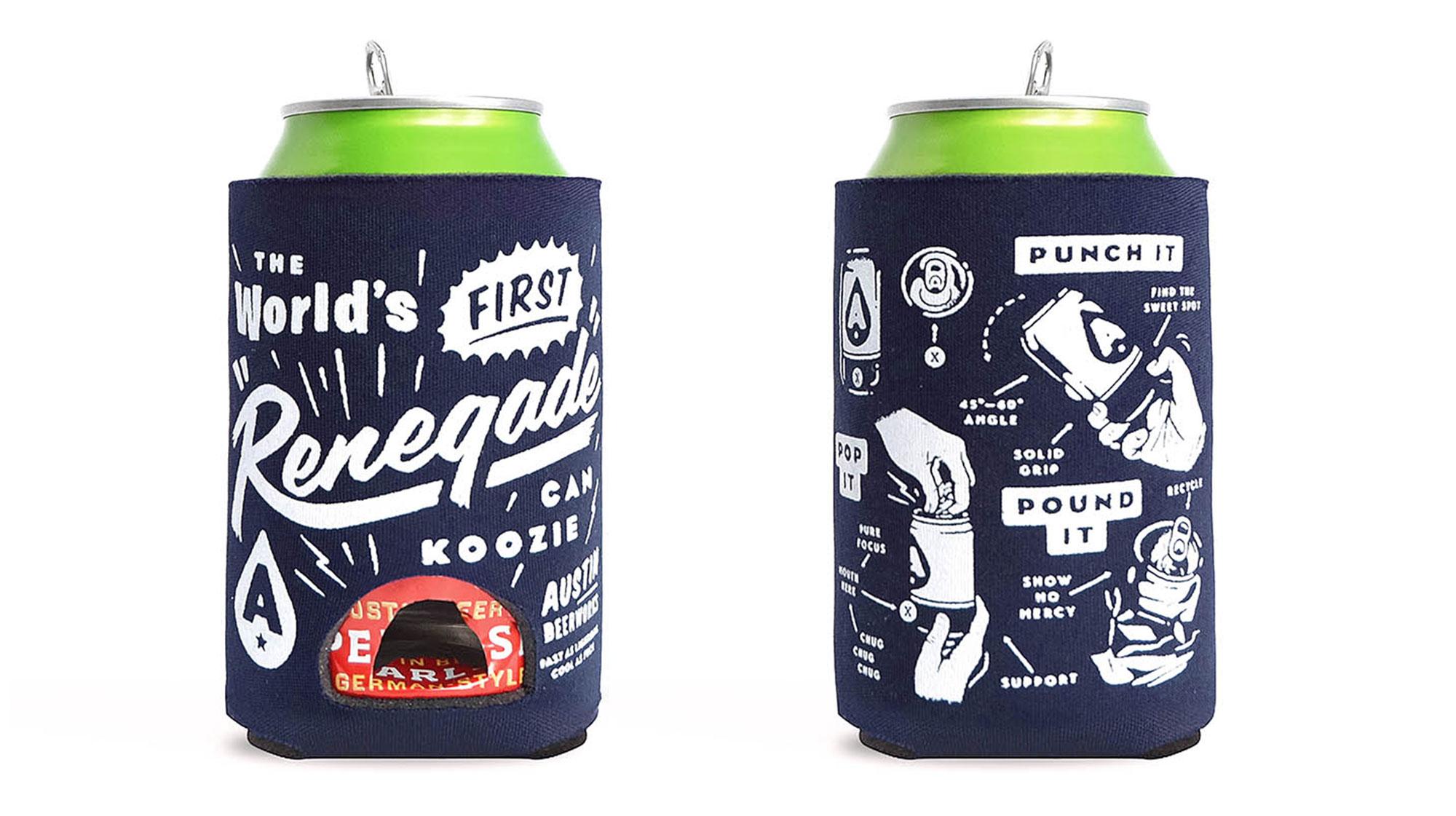 Austin Beerworks Renegade Koozie