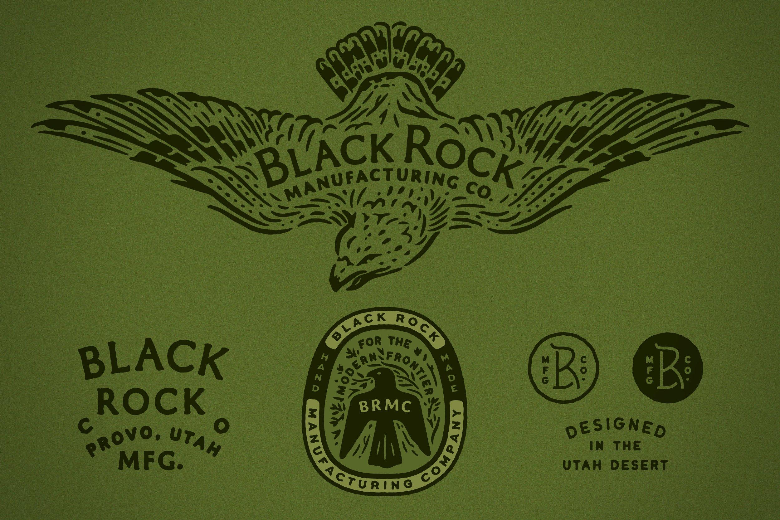 Black Rock Mfg. Co. Branding Logo Sheet