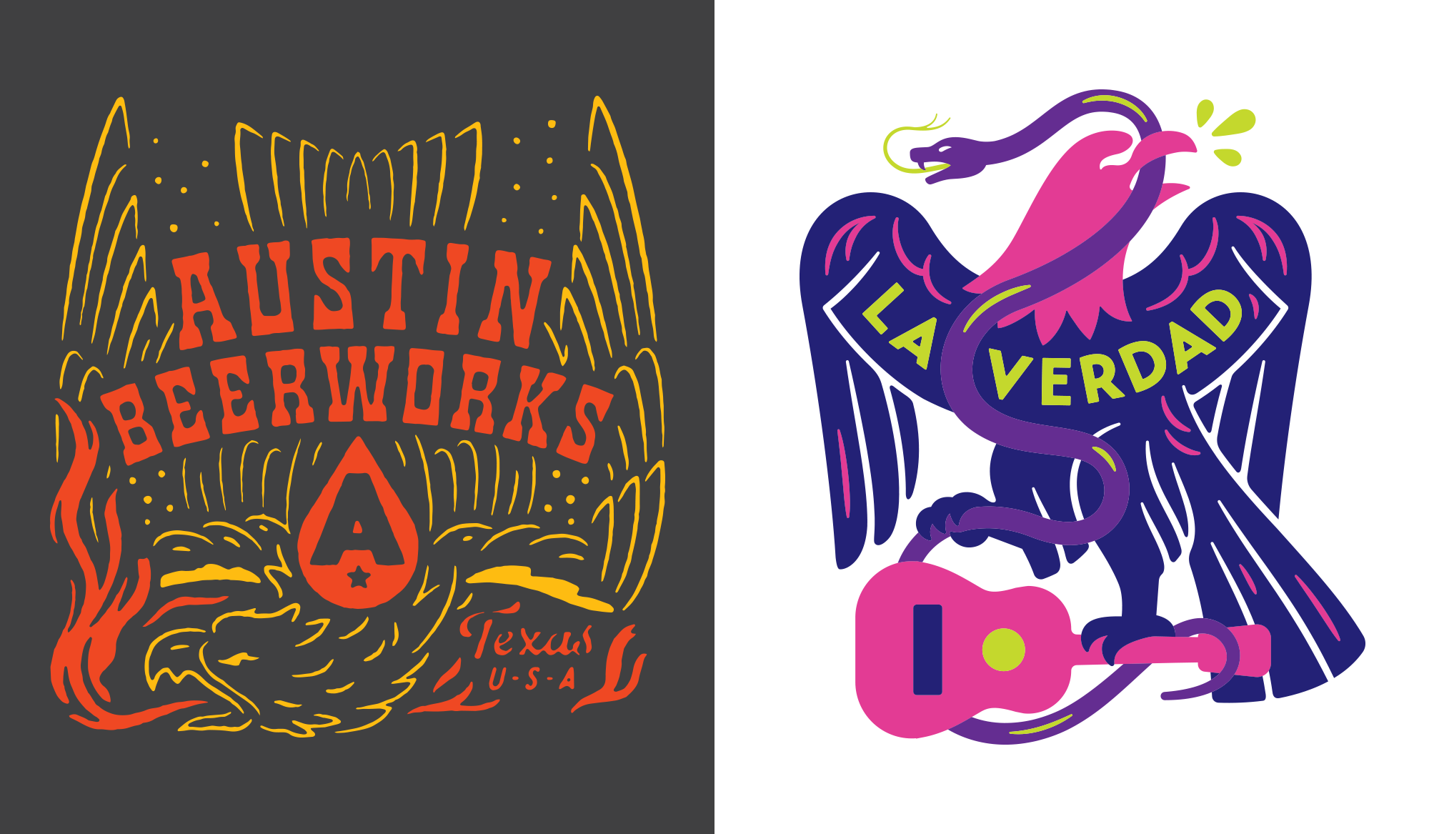 Austin Beerworks Fire Eagle and LaVerdad Designs