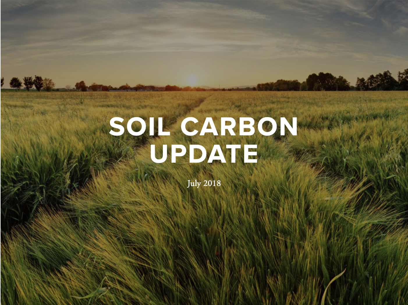 July 2018 Update - This update includes features on policies, practices, science, adaptation and agriculture, funding, workshops, conferences, and internships