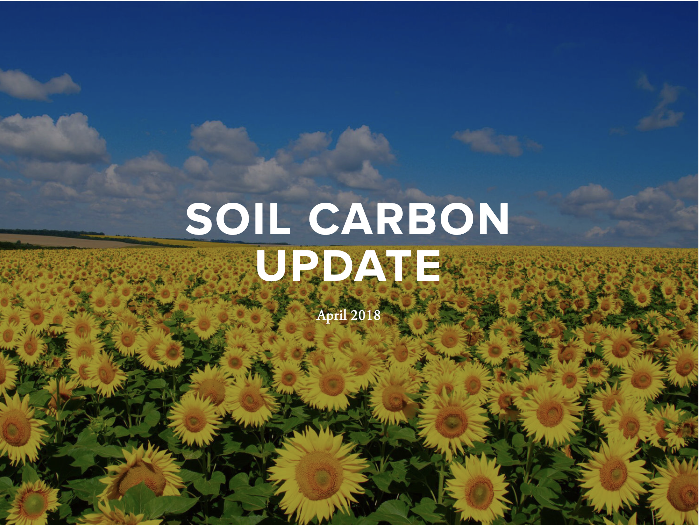 April 2018 Update - This update includes features on reports and studies, conferences, news coverage and emerging efforts
