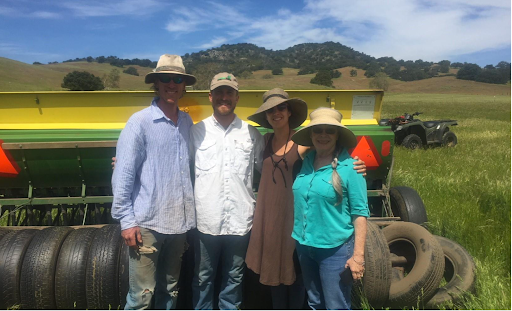 Montado Farm and San Diego RCD Staff at the Santa Ysable Ranch (first ranch in San Diego County to create a carbon farm plan and southern most site for the CA NRCS field trials for compost application on grazed rangelands)