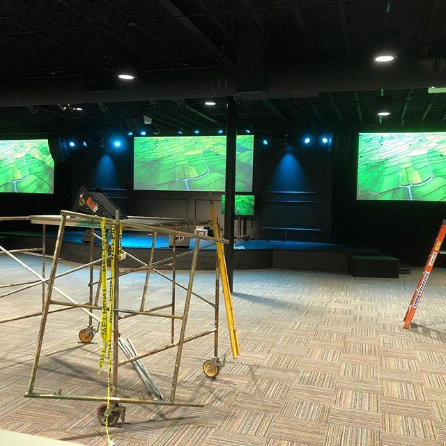 Everything is starting to take shape at Common Way Church. Our Integrated Systems team has been hard at work making sure their new Audio, Video, and Lighting systems are all ready to go for the quickly approaching opening service!
