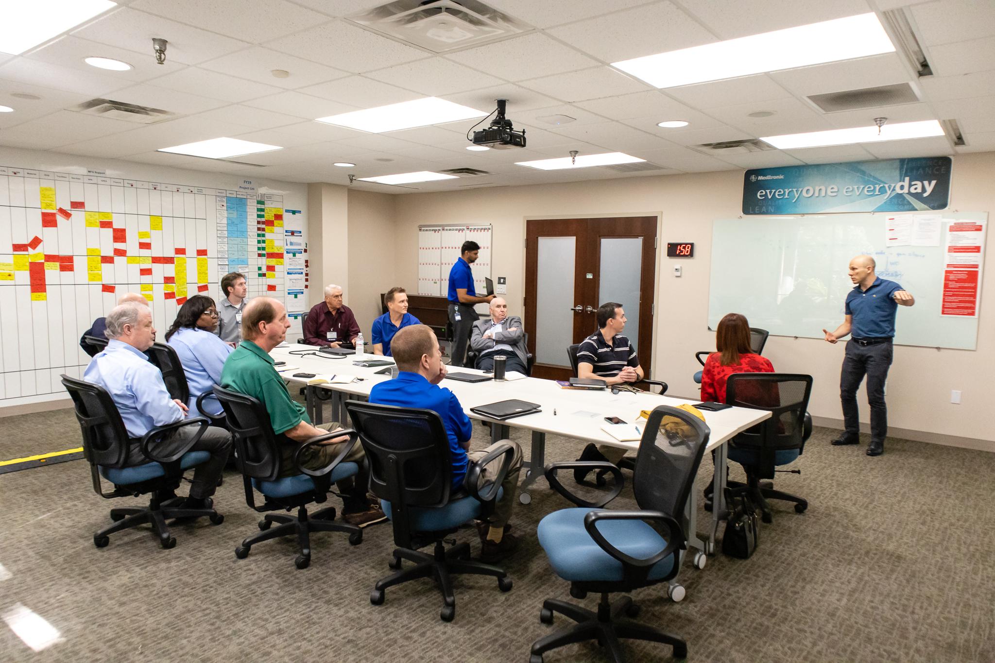 "Lean Leaders meet at Medtronic's ""Visual Leadership Center"""