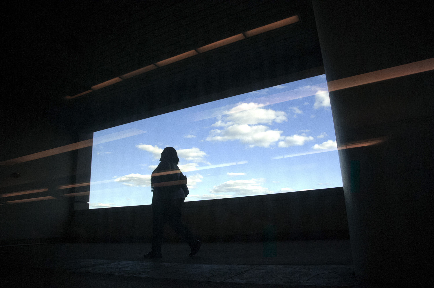 Secaucus Woman with Clouds