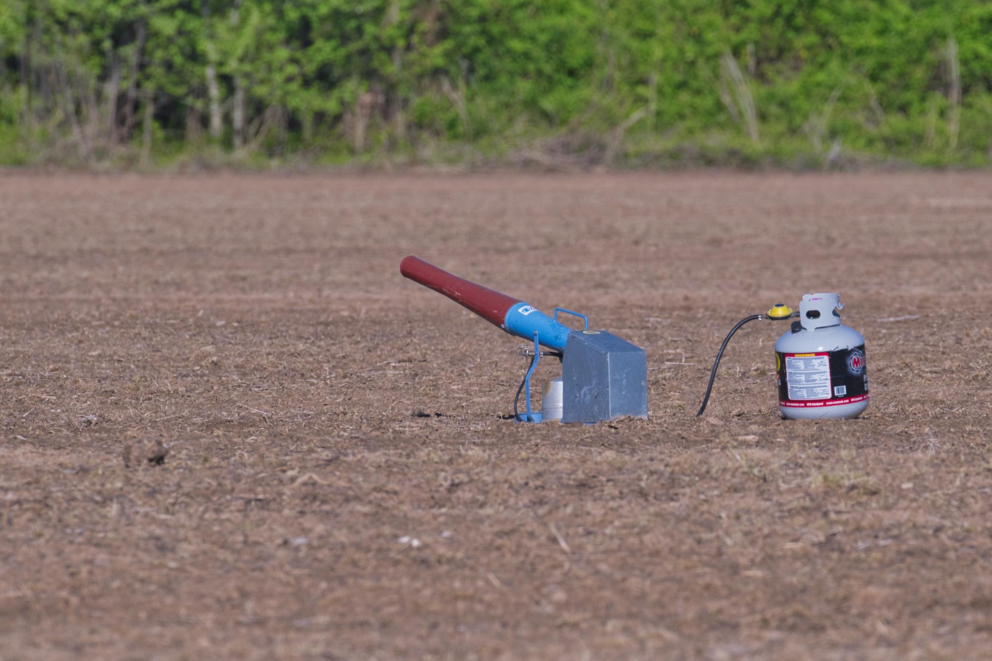 Propane Cannon - Sequoyah National Wildlife Refuge - Oklahoma