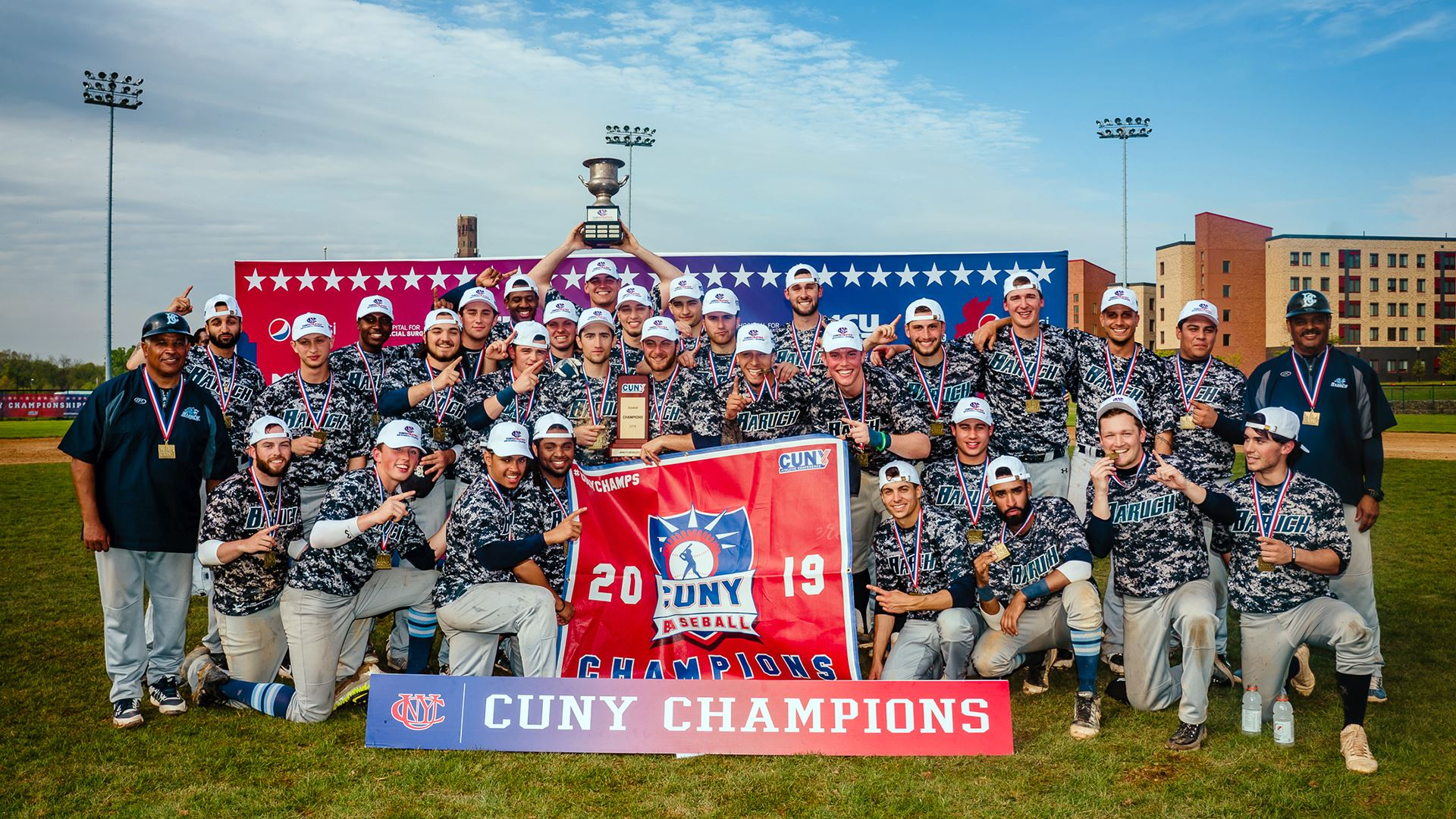 The Baruch Bearcats completed a CUNYAC title trifecta, with the men's baseball, volleyball and tennis teams clinching regular season conference championships and securing their spots in their NCAA Tournaments.  Denis Gostev | Baruch Athletics