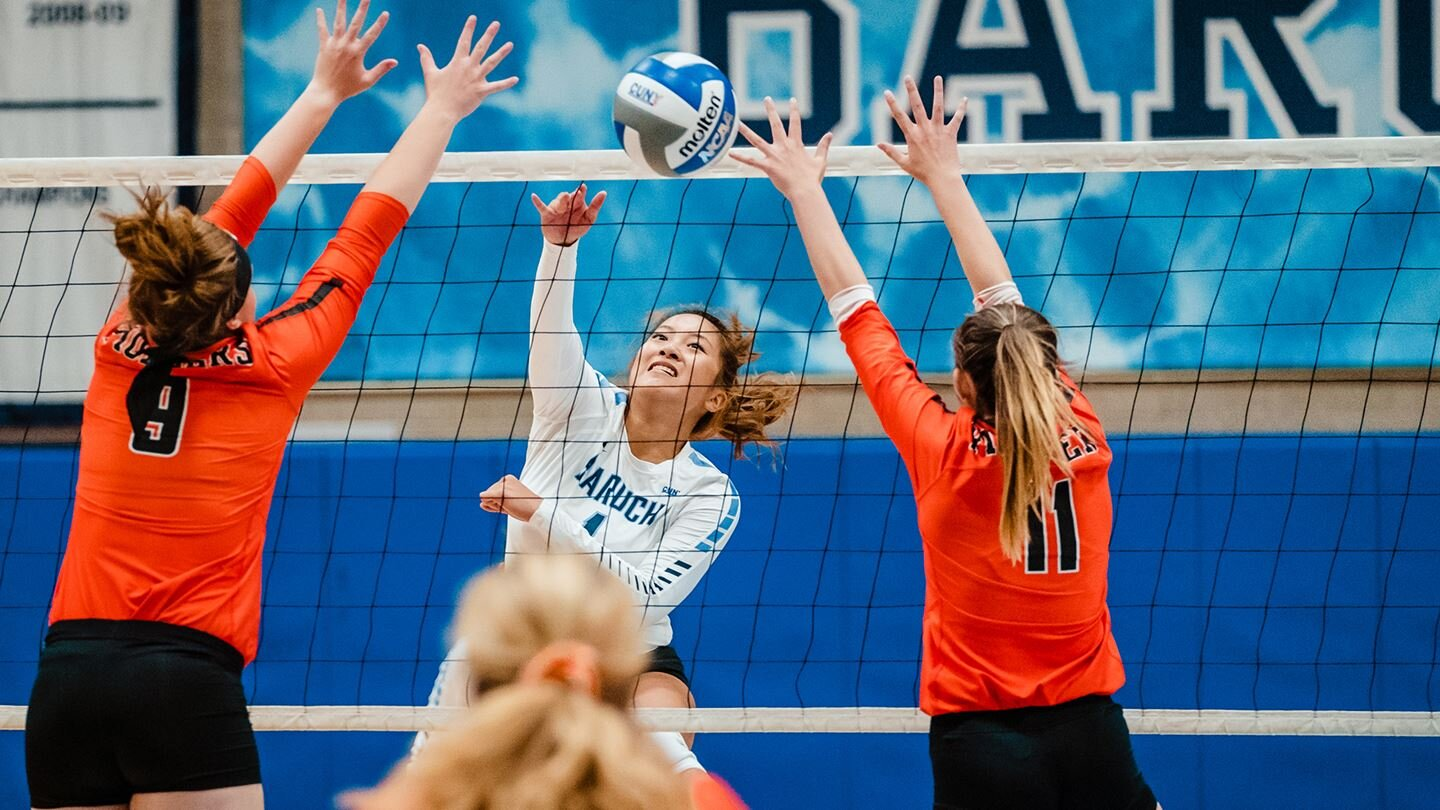 Denis Gostev | Baruch Athletics   The sports teams at Baruch College are off to yet another strong start. Women's volleyball started its season with a huge win over SUNY Farmingdale, while men's soccer dominated St. Joseph's College - Brooklyn.