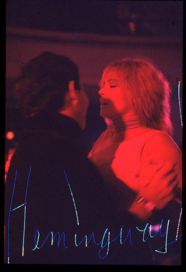 HEMINGWAY, OPENING NIGHT STUDIO 54, 1977  DYE - SUBLIMATION PRINT