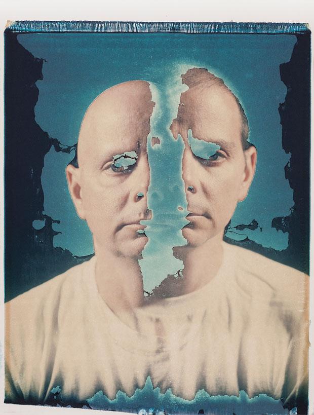 "SELF PORTRAIT, 1992  20"" X 24"" POLAROID TRANSFER"