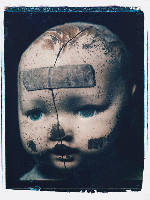 "BROKEN HEAD, 1998 20"" X 24"" POLAROID"