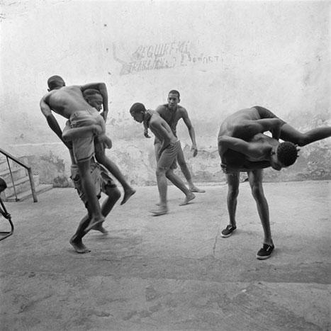 MATCH PRACTICE, CUBA, 2002  SILVER GELATIN
