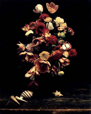 """BOUQUET OF FLOWERS, 1998   SHOT ON 8""""X10"""" POLAROID FILM AND PRINTED AS DIGITAL PIGMENT PHOTOGRAPHS ON CANVAS"""