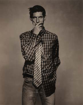 MARK IN PLAID, 1993  TONED SILVER GELATIN