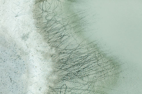 TRACKS AND WATER, 2009  PIGMENT PRINT