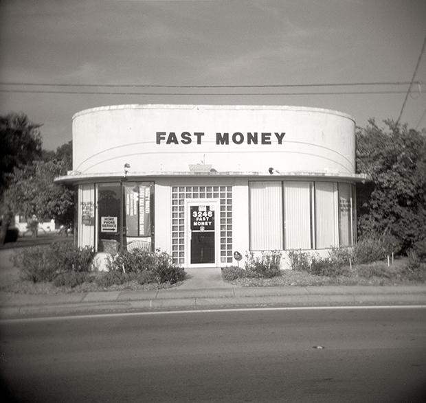 FAST MONEY, US ROUTE 1, FL, 2010  SILVER GELATIN PRINT