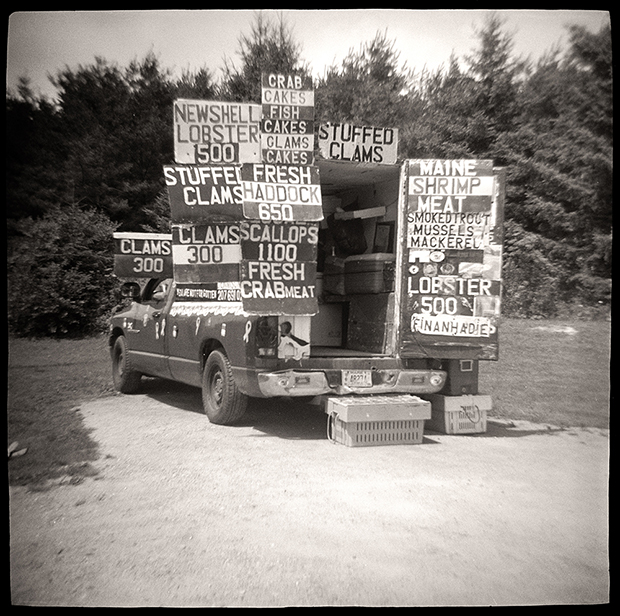 SEAFOOD TRUCK, US ROUTE 1, ME, 2010 SILVER GELATIN PRINT