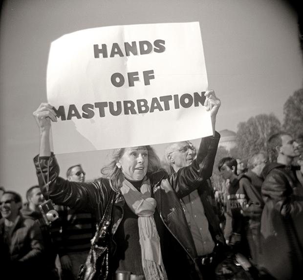 HANDS OFF MASTURBATION, WASH. DC, 2010 SILVER GELATIN PRINT