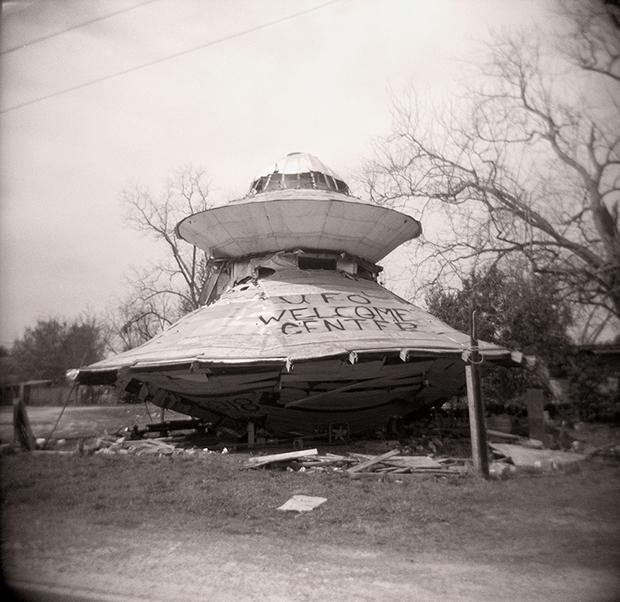UFO WELCOME CENTER, BOWMAN, SC, 2013  SILVER GELATIN PRINT