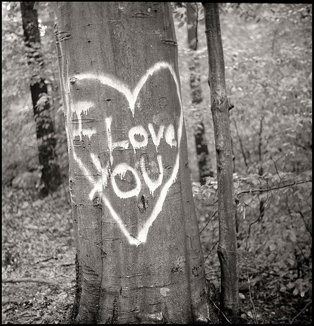 I LOVE YOU, US ROUTE 1, MD, 2010  SILVER GELATIN PRINT