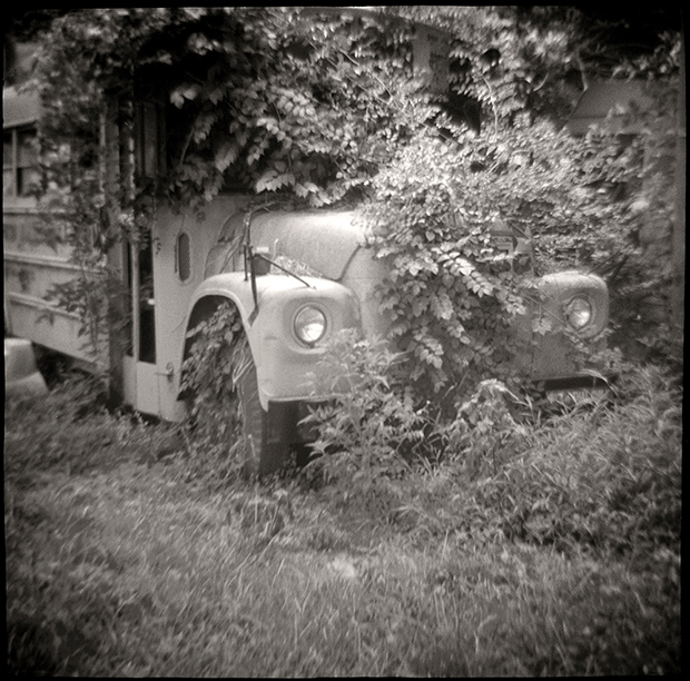 OLD BUS, US ROUTE 1, SC, 2010  SILVER GELATIN PRINT