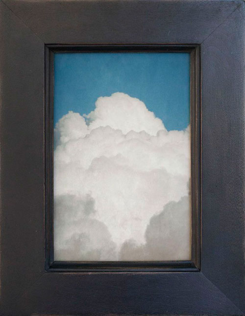 BECKETTS CLOUD, 2013   PIGMENT PRINT ONE OF A KIND HANDMADE ANTIQUE FRAME
