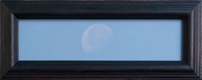 DAYMOON, 2006   PIGMENT PRINT ONE OF A KIND HANDMADE ANTIQUE FRAME