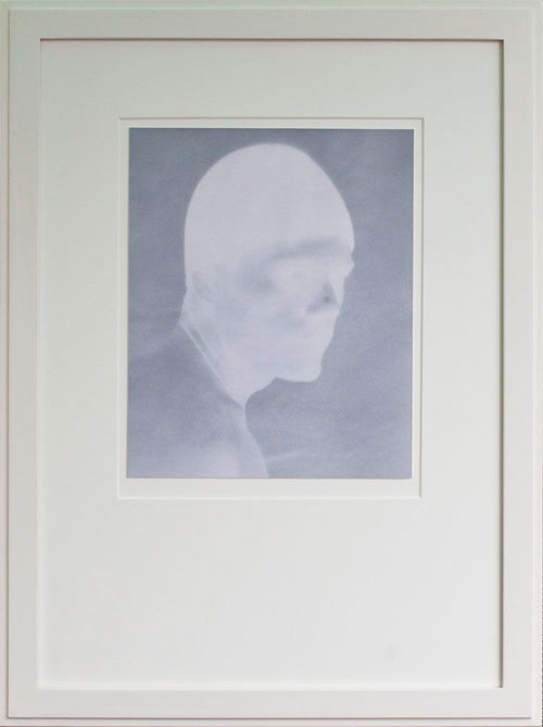 BOY (NEGATIVE), 2012   PIGMENT PRINT ONE OF A KIND HANDMADE ANTIQUE FRAME