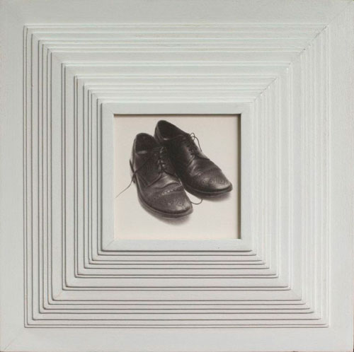 MY WINGTIPS, 2006   PLATINUM PRINT ONE OF A KIND HANDMADE ANTIQUE FRAME