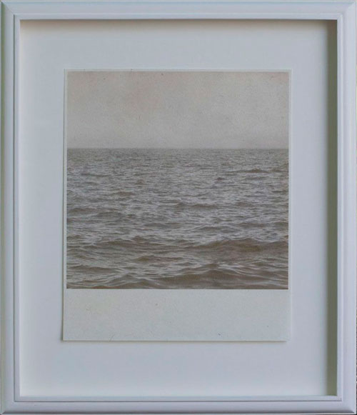 OUR FOREVER SEA, 2012  PIGMENT PRINT ONE OF A KIND HANDMADE ANTIQUE FRAME