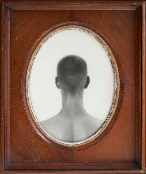 YOUNG MAN, 2009   SILVER GELATIN PRINT ONE OF A KIND HANDMADE ANTIQUE FRAME