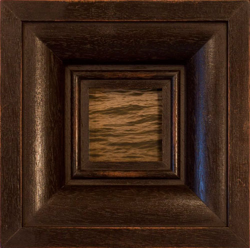 THE LITTLE OCEAN (A), 2013  PIGMENT PRINT   ONE OF A KIND HANDMADE ANTIQUE FRAME