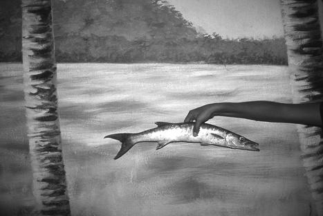 """BRIAN PEARSON, """"ANNA HOLDING FISH"""" 2004 GICLEE PRINT"""