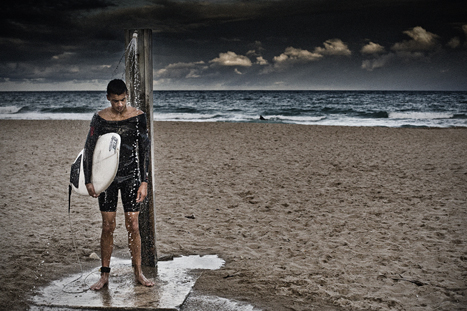 """DAVID SAXE, """"SURFER"""" 2008  ARCHIVAL INK ON ARCHIVAL PAPER"""