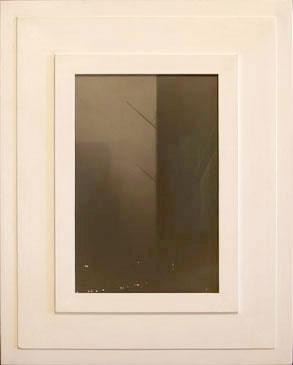 BANNER POLES , 2005   SILVER GELATIN PRINT one of a kind handmade antique frame