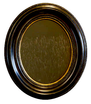 EVENING LAWN PORTRAIT, 2006  SILVER GELATIN PRINT one of a kind handmade antique frame