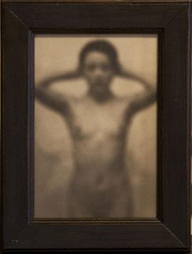 BLURRY GIRL, 2004  SILVER GELATIN PRINT one of a kind handmade antique frame