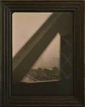 LEAVING MANHATTAN , 2005   TONED SILVER GELATIN one of a kind handmade antique frame
