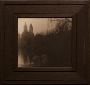 CENTRAL PARK, NY, 2005  SILVER GELATIN PRINT one of a kind handmade antique frame