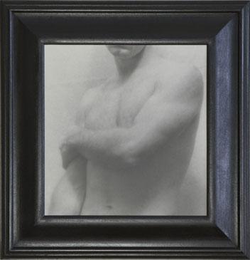 POSE , 2006   SILVER GELATIN PRINT one of a kind handmade antique frame
