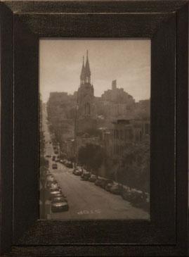 SAN FRANCISCO, CA, 2003  SILVER GELATIN PRINT one of a kind handmade antique frame
