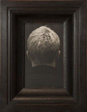 THE QUESTION OF MICHAEL, 2007  SILVER GELATIN PRINT one of a kind handmade antique frame