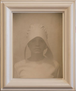 KATE , 2007   TONED SILVER GELATIN one of a kind handmade antique frame