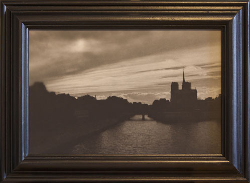 PARIS , 2004   SILVER GELATIN PRINT one of a kind handmade antique frame