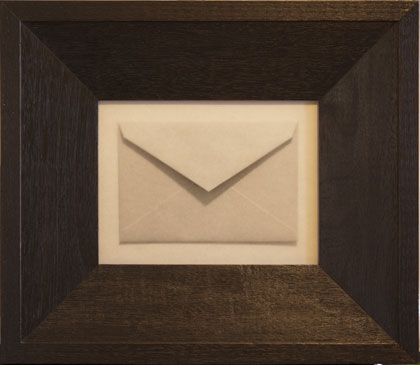 INVITATION, 2006  SILVER GELATIN PRINT one of a kind handmade antique frame