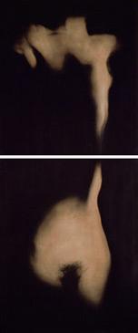 PENNY MAILANDER, JO #1 , 1996   OIL PAINTED/SILVER GELATIN