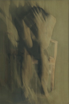 PENNY MAILANDER, THOUGHT, 1993   OIL PAINTED/SILVER GELATIN