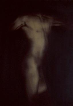 PENNY MAILANDER, WAYNE #1, 1996   OIL PAINTED/SILVER GELATIN