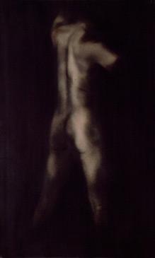 PENNY MAILANDER, WAYNE #2, 1996   OIL PAINTED/SILVER GELATIN